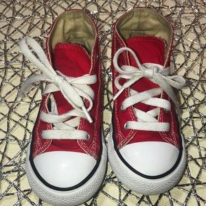CONVERSE Kids size 9 Red high top